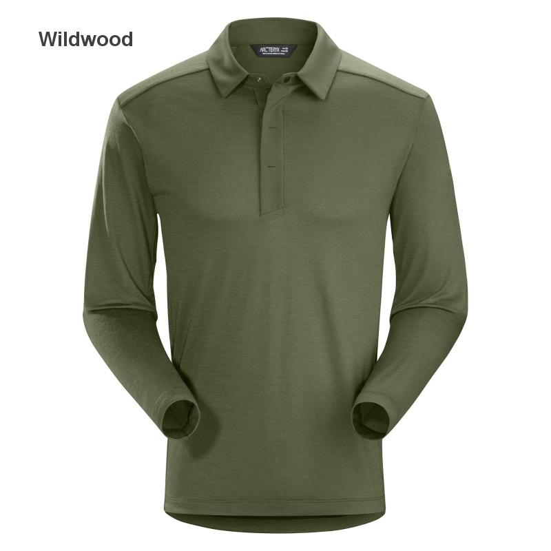 ◎アークテリクス 22890・A2B LS Polo Men's/A2B ロングスリーブポロ メンズ(Wildwood)L07274100