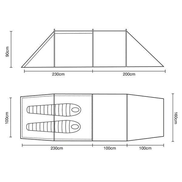 大人女性の ○ワイルドカントリー 44HOO2ETC・フーリー2 ETC-テント ...