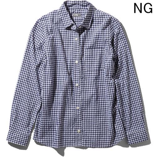 ○ノースフェイス NRW11966・ロングスリーブ ヒデンバリーシャツ(ウィメンズ)