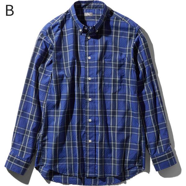 ○ノースフェイス NR11968・ロングスリーブ オコチロパッチシャツ(メンズ)