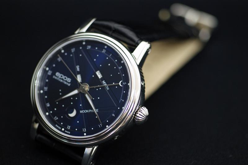 EPOS-EPOS 3391 Moonphase, triple calendar ' night sky ' craftsmen also satisfy