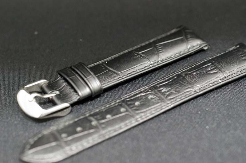正規品エポスEPOS 純正革バンド 取付サイズ20mm ブラック カーフ型押し ストラップ 【メーカーお取り寄せ】