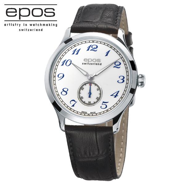 国内正規品 エポス【EPOS】3408ホワイト文字盤 手巻き薄型6ミリ 【土日祝日発送可能】