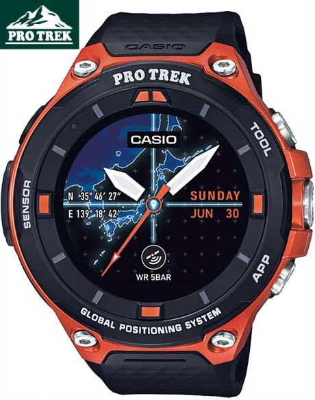 国内正規品CASIOカシオ「PRO TREK」カシオ スマートウォッチ プロトレック・スマート オレンジ WSD-F20-RG WSD-F20RG【WSD-F20-RG】