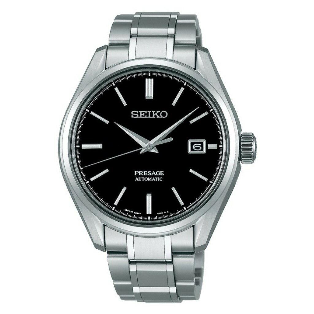 【あす楽】正規品セイコーSEIKO プレサージュ【PRESAGE】自動巻きプレザージュ メカニカル 腕時計 メンズ プレステージライン 3針モデル ブラック文字盤 【SARX057】