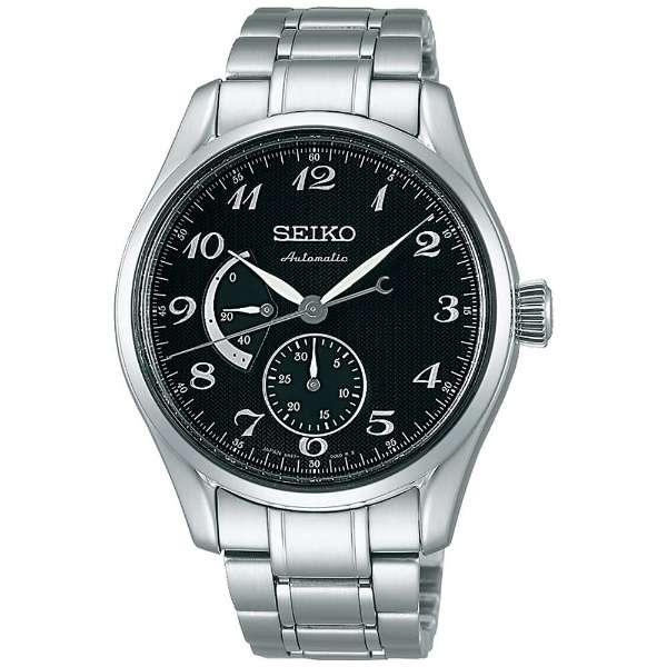 【スーパーSALEクーポンあり】正規品セイコーSEIKO プレサージュ【PRESAGE】プレステージライン 国産初の腕時計「ローレル」の意匠を現代に再現 自動巻き パワーリザーブインジケーター 黒文字盤 SARW029