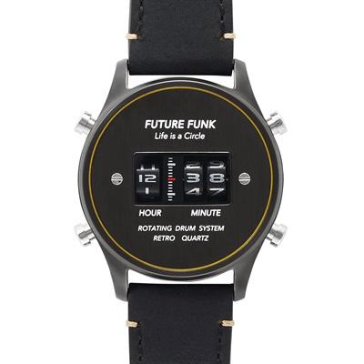 【あす楽】国内正規品【FUTURE FUNK (フューチャー ファンク】【FF102-BKYL-LBK】アナログデジタルウォッチ【プレゼントや記念で刻印可能】
