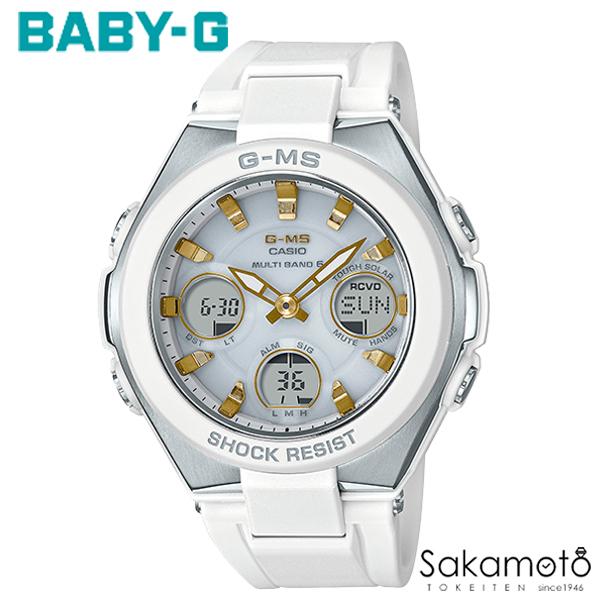 国内正規品カシオ Baby-G 【G-MS(ジーミズ)】洗練されたデザインと頼れる機能で、女性の毎日をサポート ゴールドインデックス ホワイトラバーベルト レディース時計 デジアナ 【MSG-W100-7A2JF】