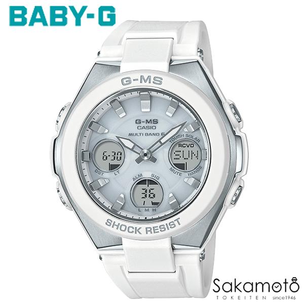 国内正規品カシオ Baby-G 【G-MS(ジーミズ)】洗練されたデザインと頼れる機能で、女性の毎日をサポート ホワイトラバーベルト レディース時計 デジアナ 【MSG-W100-7AJF】