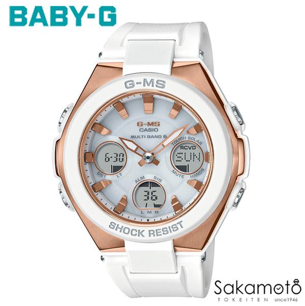 国内正規品カシオ Baby-G 【G-MS(ジーミズ)】洗練されたデザインと頼れる機能で、女性の毎日をサポート ピンクゴールドケース ホワイトラバーベルト レディース時計 デジアナ 【MSG-W100G-7AJF】