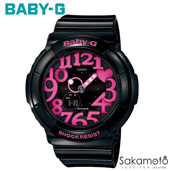 国内正規品カシオ Baby-G 人気のブラック×ピンクカラー ネオンイルミネーター搭載 レディースウォッチ 女性用 【送料無料】【BGA-130-1BJF】
