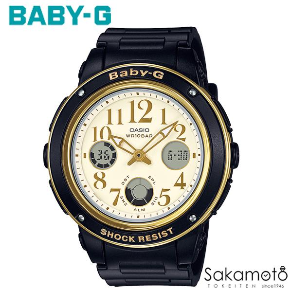 国内正規品カシオ Baby-G 華やかなアラビック数字をインデックスに取り入れたモデルが登場 ブラック×ゴールド デジアナ レディース腕時計 女性用【送料無料】【BGA-151EF-1BJF】
