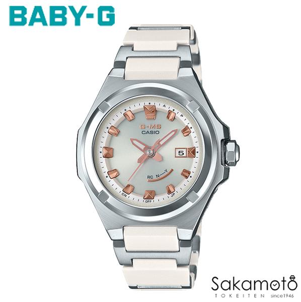【スーパーSALEクーポンあり】【2019.10発売】国内正規品カシオ Baby-G 【G-MS(ジーミズ)】女性らしい小型デザインと日常で活躍する機能が頼もしいNewモデル ホワイト コンポジットベルト レディース腕時計【MSG-W300CG-7AJF】
