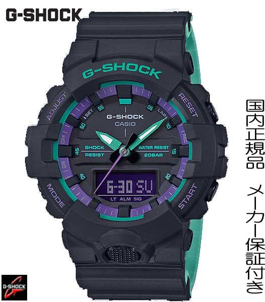 【2019.04発売】国内正規品G-SHOCK「Gショック」90年代に代表されるレトロスポーツテイストをテーマカラーにしたNew【GA-800BL-1AJF】