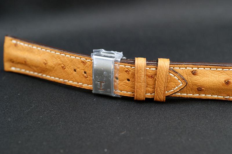 有供正規的物品漢密爾頓HAMILTON純正皮帶爵士主人旅行者2 H32625555使用的駝鳥純正吊帶22mm純正帶扣