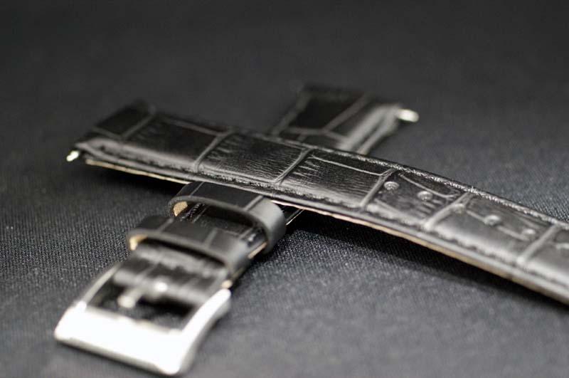 正規品ハミルトンHAMILTON 純正ベルト ブラックカーフ型押しベルト 取付20mm バリアントオート ジャズマスターデイデイト マエストロスモールセコンド ブラックカーフ純正ストラップ