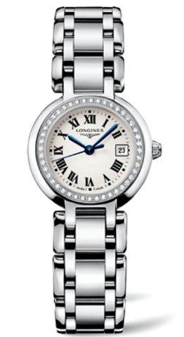 【スーパーSALEクーポンあり】正規品ロンジンlongines 「プリマルナ」 PrimaLuna レディース腕時計 ベゼルにダイヤモンド入り0.299ct 送料無料【L8.110.0.71.6】【l81100716 】