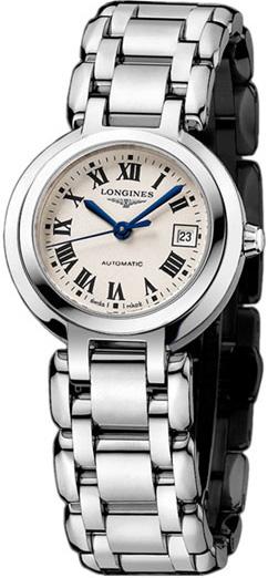 正規品ロンジンlongines 「プリマルナ」 PrimaLuna レディース腕時計 26.5mm自動巻き ステンレスモデル ローマ数字  送料無料【L8.111.4.71.6】【l81114716 】