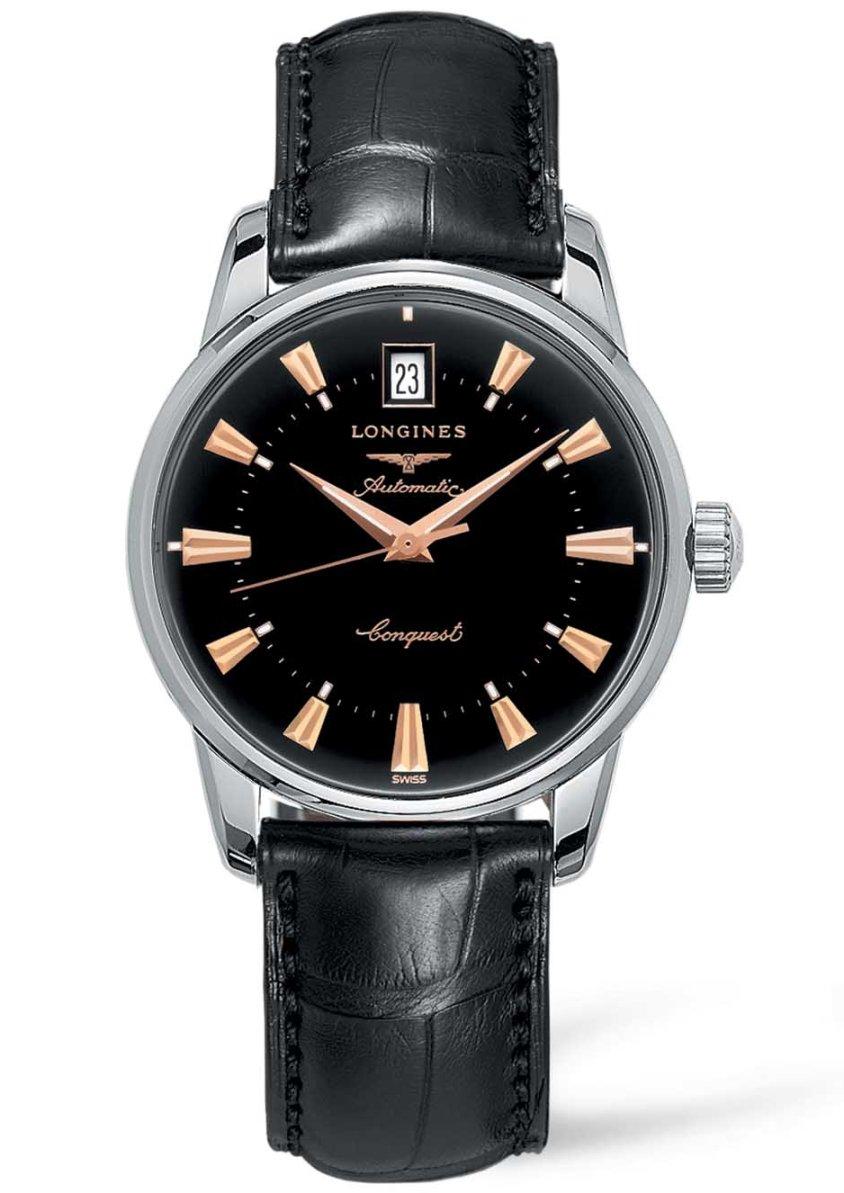 【あす楽】正規品Longines【ロンジン】ヘリテージコレクション 3針デイトオートマチック 大人系の時計です。ブラックダイヤルL16114524【smtb-m】【L1.611.4.52.4】【L16114524】