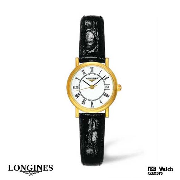 正規品ロンジンlongines  「ラ・グランクラシック」 La Grande Classique レディースウォッチ 薄型5ミリケース クォーツ腕時計 K18イエローゴールド無垢ケース 革(アリゲーター)【L4.277.6.11.0】【L42776110】