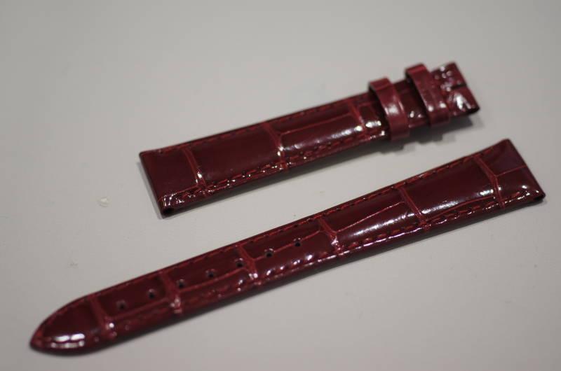 純正LONGINESロンジン ドルチェビーター用【Dolcevita】 レッド色 アリゲーター革ストラップ に対応可能【取付はお客様にてお願いします】