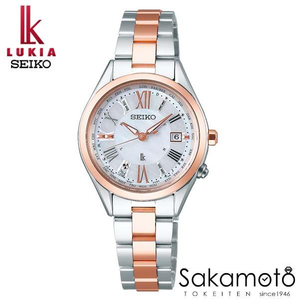 国内正規品 SEIKO セイコー LUKIA ルキア ウォッチ 腕時計 ラッキーパスポート ソーラー電波 女性用 婦人用 レディース【SSQV040】