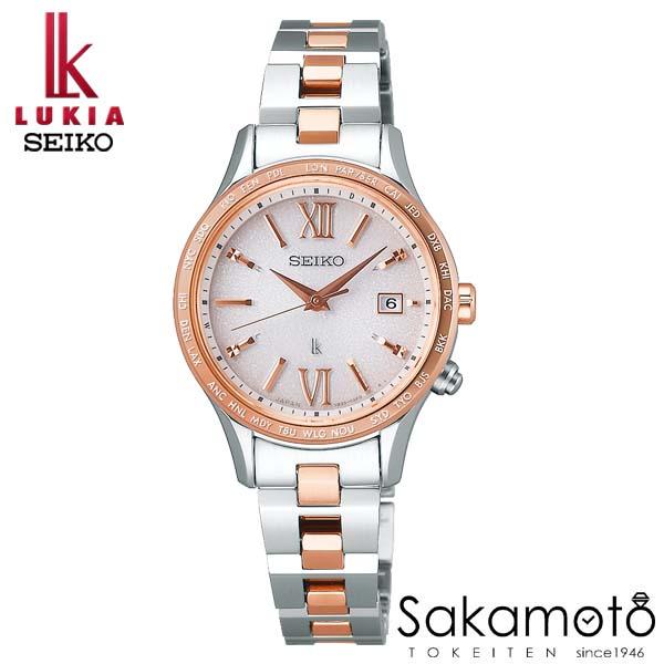 【スーパーSALEクーポンあり】国内正規品 SEIKO セイコー LUKIA ルキア ウォッチ 腕時計 ラッキーパスポート ソーラー電波 女性用 婦人用 レディース【SSVV036】