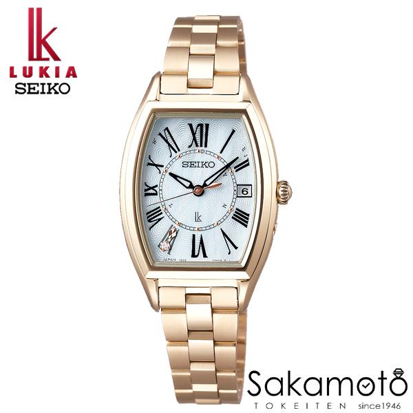 国内正規品 SEIKO セイコー LUKIA ルキア ウォッチ 腕時計 ソーラー電波 女性用 婦人用 レディース【SSQW046】