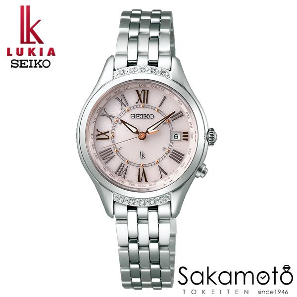 国内正規品 SEIKO セイコー LUKIA ルキア ウォッチ 腕時計 ダイヤモンド入り ソーラー電波 女性用 婦人用 レディース【SSVV053】