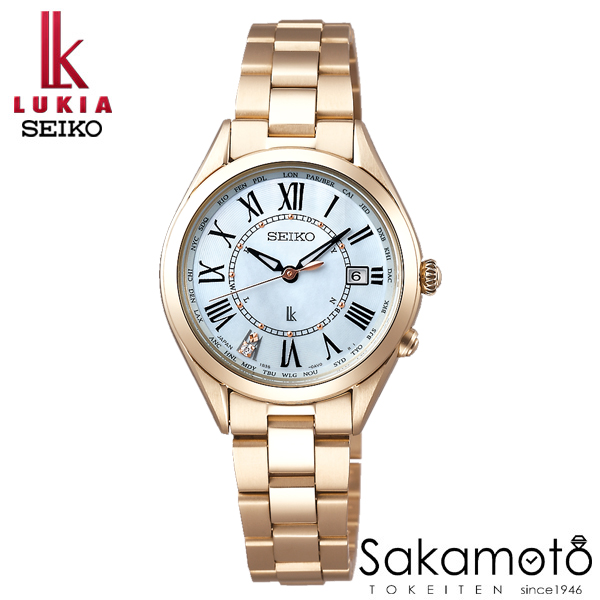 国内正規品 SEIKO セイコー LUKIA ルキア ウォッチ 腕時計 レディーゴールド ソーラー電波 女性用 婦人用 レディース【SSQV068】