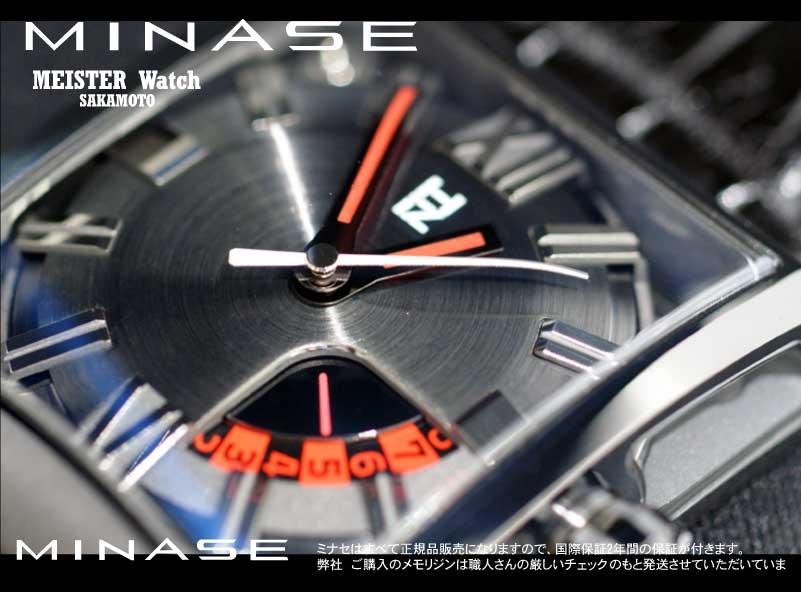 正规的物品MINASE日本制造表[五橱窗自动卷]