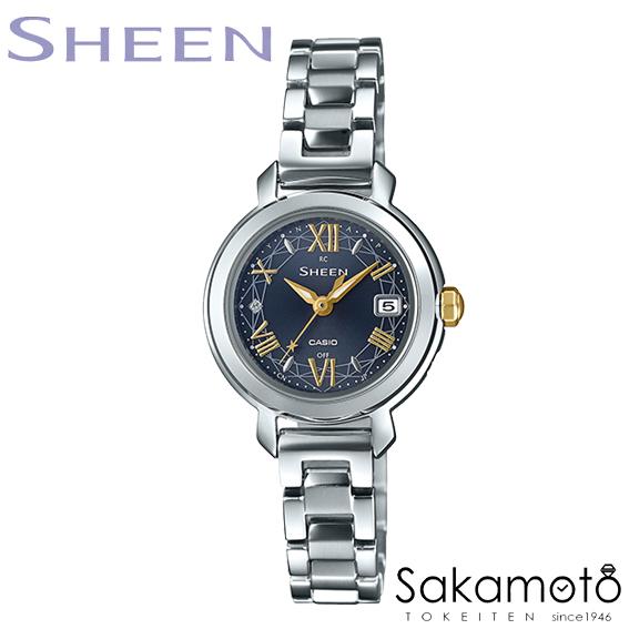 【2020年3月13日発売】国内正規品カシオ 【SHEEN(シーン)】春の光をテーマにした、SHW-5300シリーズが登場  スワロフスキー・クリスタル付き 電波ソーラー 腕時計 レディースウォッチ【SHW-5300D-2AJF】