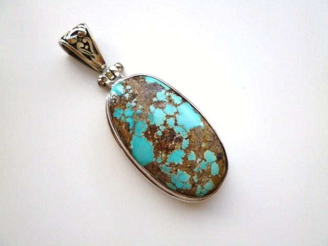 【坂元屋店主お薦め】《トルコ石好き必見》非常に貴重な古い昔のトルコ石のペンダントトップ