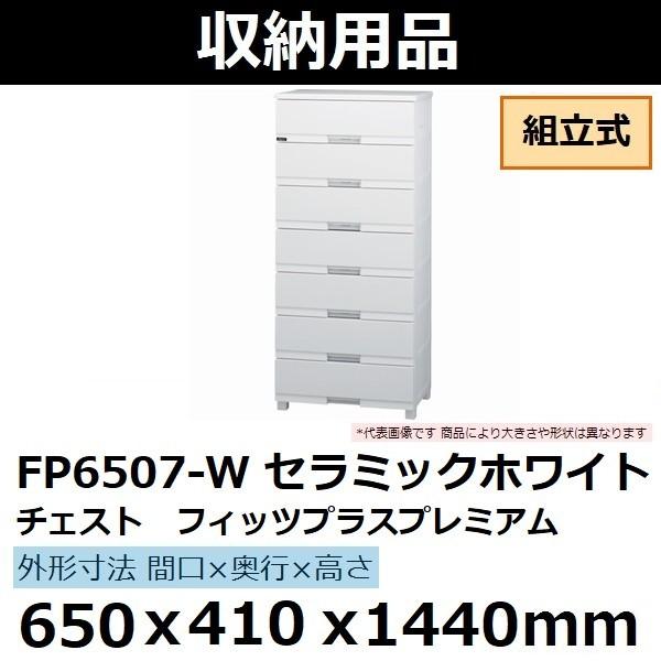 TENMAフィッツプラスプレミアム 650×410×1440 セラミックホワイト FP6507-W 組立式