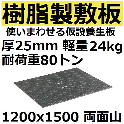 三甲(SANKO) 約24kg 耐荷重80トン 樹脂製軽量敷板 1200x1500x25 両面山