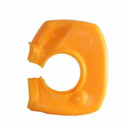 祝日 乾産業 ソフトクランプカバー 48.6mm用 カラー:イエロー 入数:100個 市場