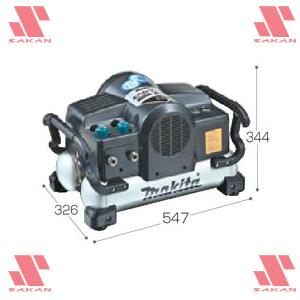 マキタ(makita) AC220N エアコンプレッサ(一般圧) タンク容量11L 60Hz用【後払い不可】