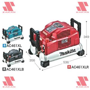 新しい到着 50/60Hz AC461XL マキタ(makita) タンク容量Large11L 共用 エアコンプレッサ 青色【後払い】:佐勘金物店-DIY・工具