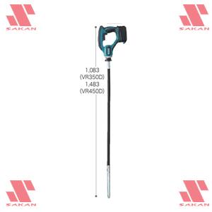 マキタ(makita) VR350DRFX 18V充電式コンクリートバイブレータ 振動部径25mm【後払い不可】