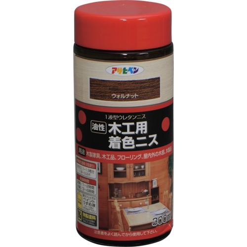 売買 アサヒペン 塗料 木工用着色ニス 即納 300ML 店舗在庫有り 〔品番:526038〕 ウォルナット