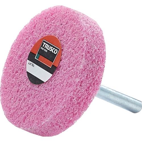トラスコ中山 ナイロン軸付ホイール TRUSCO 軸付ナイロンホイール お買い得品 軸径6mm メイルオーダー #800 1371817×5 《5個入》〔品番:TNWJ-50P〕 ピンク