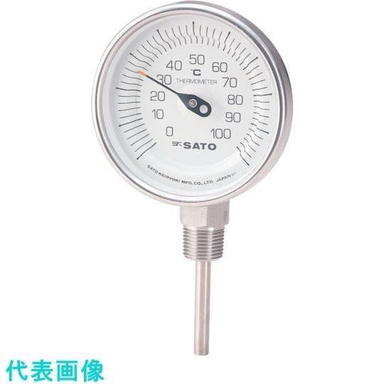 佐藤計量器製作所 温度計 驚きの値段で 湿度計 人気上昇中 佐藤 バイメタル温度計BMーS型 1689177 〔品番:BM-S-90S-2〕