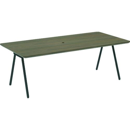 TRUSCO ミーティングテーブル W1800×D860×H600 天板ウォールナット 〔品番:MLT18086-WN〕[2072993]「法人・事業所限定,直送元」