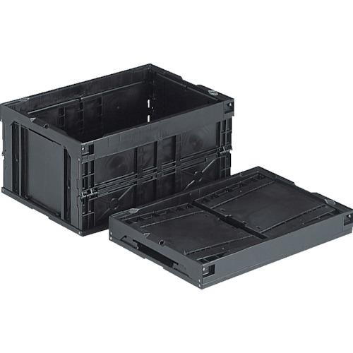 三甲 保証 新品 折りたたみコンテナ サンコー 折りたたみコンテナー 551280 オリコン40B BK 黒 1100 2166855 〔品番:NO.551280〕 導電