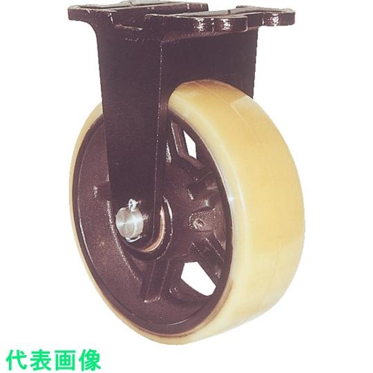 ヨドノ 鋳物製キャスター 鋳物重量用キャスター 許容荷重1107.4 人気の定番 3053288 〔品番:MUHA-MK300X75〕 至上 取付穴径15mm
