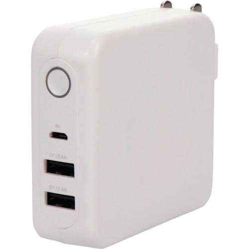オウルテック 周辺機器 MOTTERU 旅行や出張など持ち歩きに便利 USB×2ポートAC充電器 モバイルバッテリー エアリーホワイト 〔品番:MOT-MBAC6701-WH〕 法人 3148146 安全 直送 OUTLET SALE 事業所限定 送料別途見積り