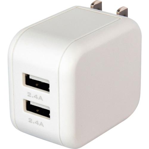 出荷 オウルテック 返品送料無料 周辺機器 MOTTERU 軽量 コンパクト USB Type-A×2ポートAC充電器合計4.8A 2.4A 〔品番:MOT-AC48U2-WH〕 エアリーホワイト 事業所限定 出力 送料別途見積り 3155774 直送 法人
