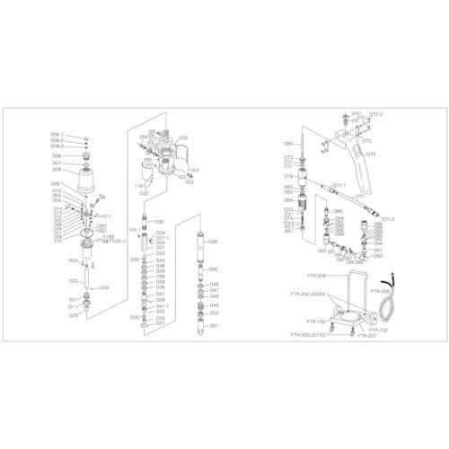 トラスコ中山 グリス注入器 人気急上昇 アウトレット TRUSCO FTR65G用 4148231 〔品番:FTR-048〕 ピストンリング