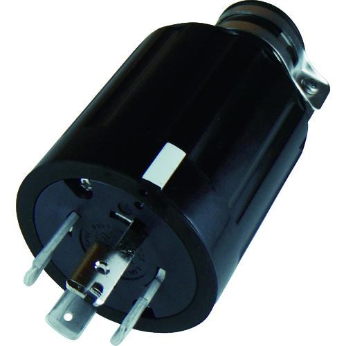 アメリカン電機 早割クーポン タイムセール プラグ コンセント 引掛形 接地3P60A600V 〔品番:4662R〕 4429222 ゴムプラグ