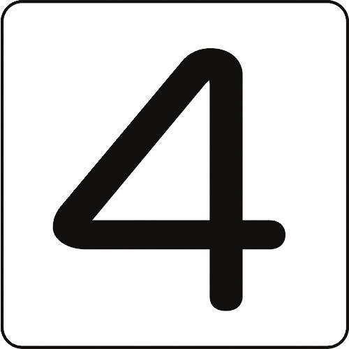 日本緑十字社 サインプレート 緑十字 数字ステッカー 商い 4 HS-4 内祝い 5P 大 アルミ 80×80mm 5枚組 8248158 〔品番:171504〕